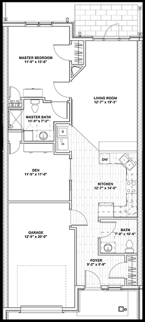 Pointe Place Townhome - 1,000 sq ft Wheelchair Access